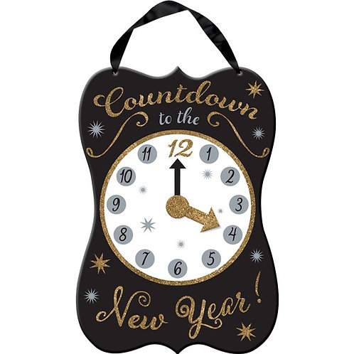Happy New Year Countdown Hanging Sign