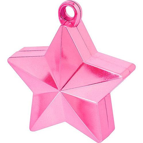 Hot Pink Star Balloon Weight