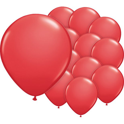 Red Latex Balloons Pack of 100