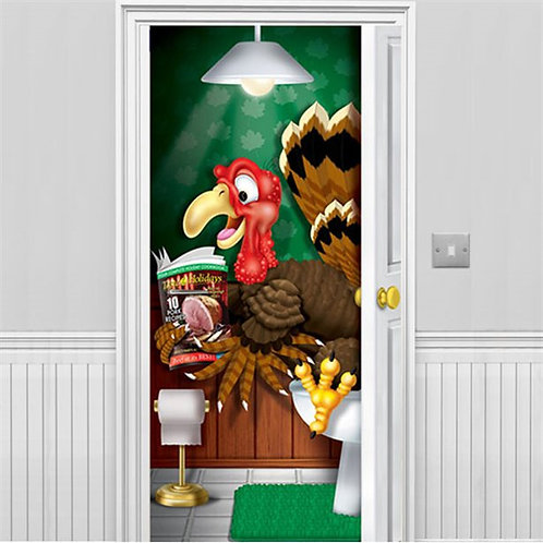 Thanksgiving Turkey Bathroom Door Banner