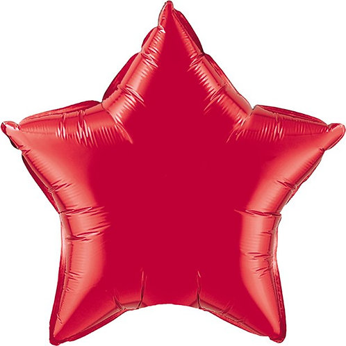 Ruby Red Star Shaped Foil Balloon