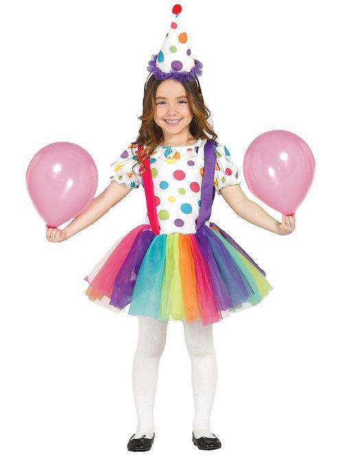 Circus Clown Costume 7-9 Years Old