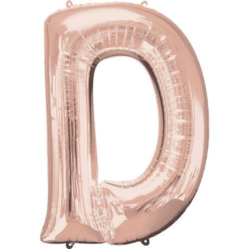 Balloon Rose Gold Letter D