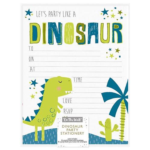 Dinosaur Party Invitations & Thank You Notes