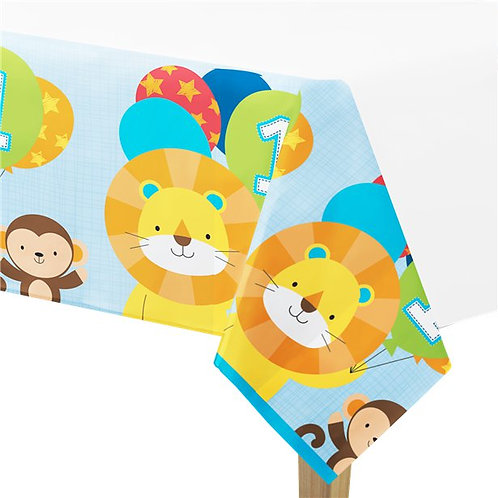 One is Fun Boy Party Tablecover