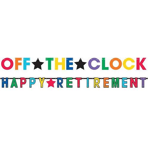 Happy Retirement Jumbo Letter Banner. Pack Of 2