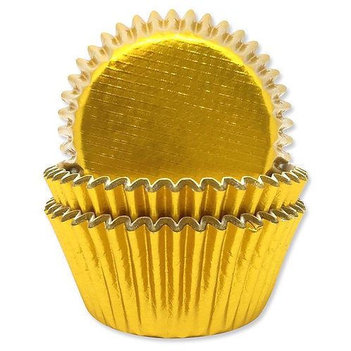 Gold Foil Finish Cupcake Cases