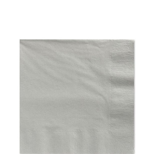 Silver Party Napkins Size 25cm