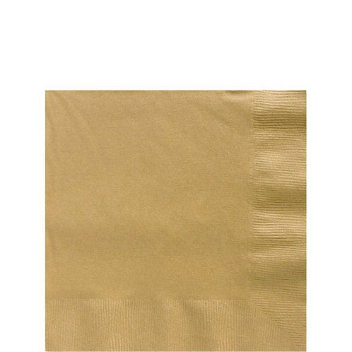 Gold Paper Napkins  Size 25cm