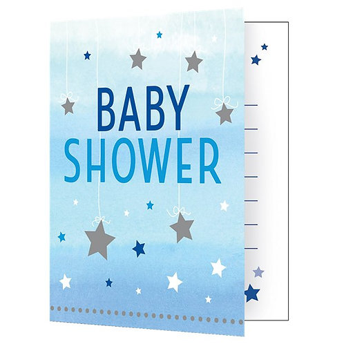 Baby Shower Blue Party Invitations
