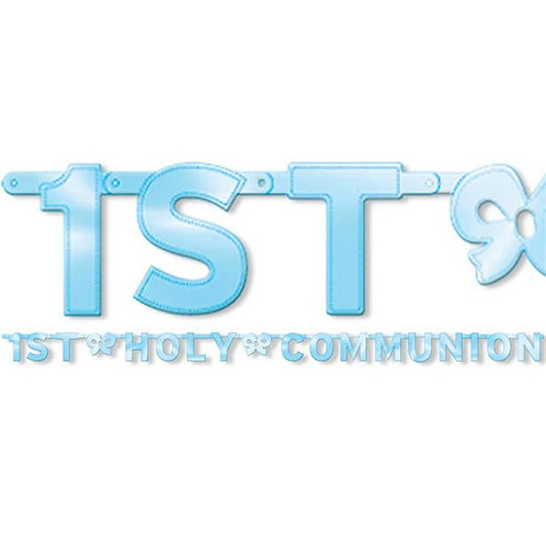 First Holy Communion Blue Letter Banner