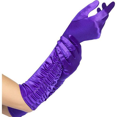 Ladies Long Purple Temptress Gloves
