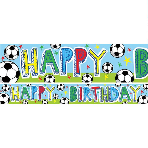 Football Birthday Paper Banners
