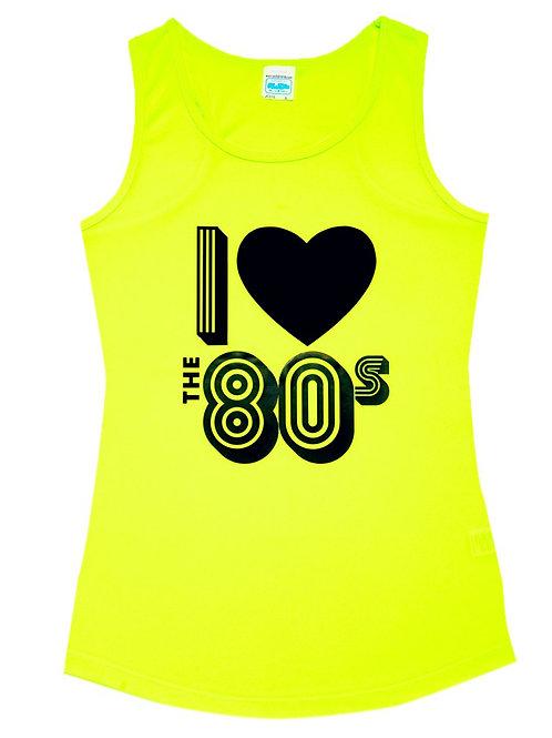 80s Yellow Vest Top Size 16
