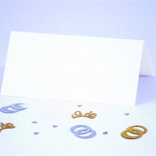 White Folded Table Place Cards
