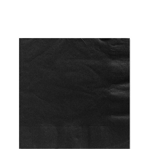 Black Paper Napkins Size 25cm