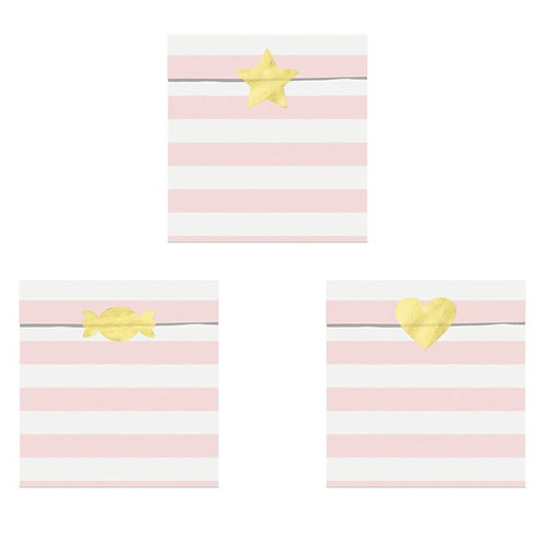 Candy Buffet Stripe Paper Treat Bags Light Pink