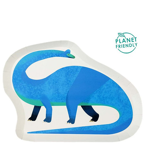 Little Party Dino Shaped Plates