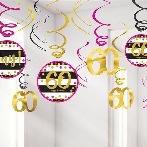 60th Birthday Swirls