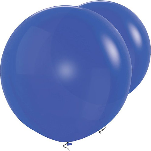 "Royal Blue Giant 36"" Round Balloons"