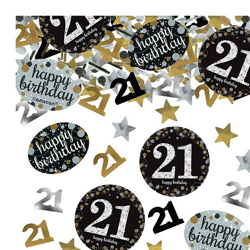 21st Birthday Sparkling Celebration Table Confetti