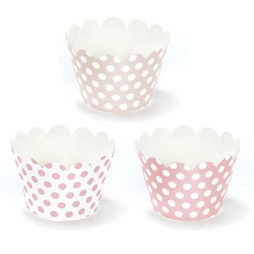 Pink Polka Dot Cupcake Wrappers