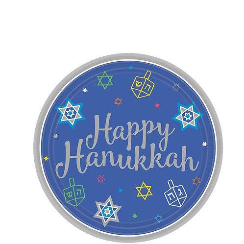 Hanukkah Small Dessert Paper Plates