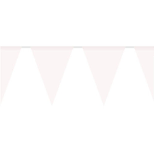White Plastic Party Bunting