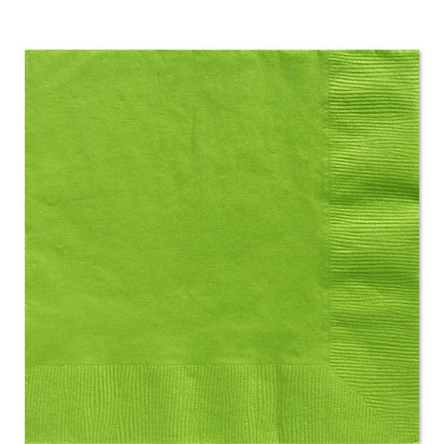 Lime Green Paper Napkins 33cm