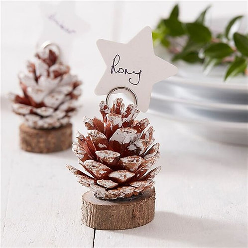 Pinecone Table Dinner Place Cards