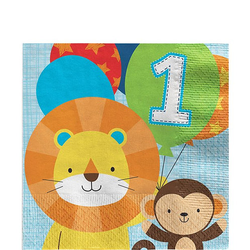 One is Fun Boy Party Napkins