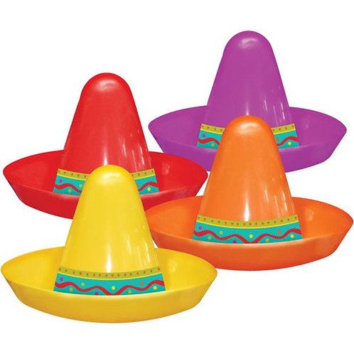 Mini Plastic Sombrero Hats