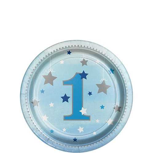 One Little Star Blue Paper Plates