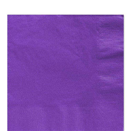 Purple Paper Napkins 33cm