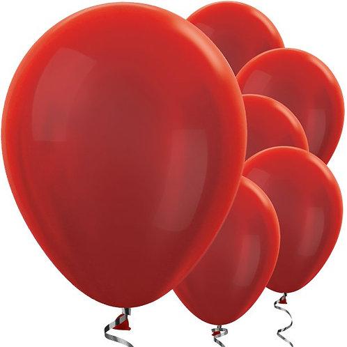"Ruby Red 12"" Metallic Balloons"
