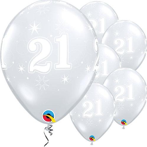 21st Sparkle-A-Round Diamond Clear Balloons