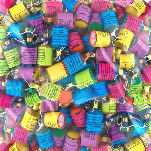 Party Poppers Assorted Colours