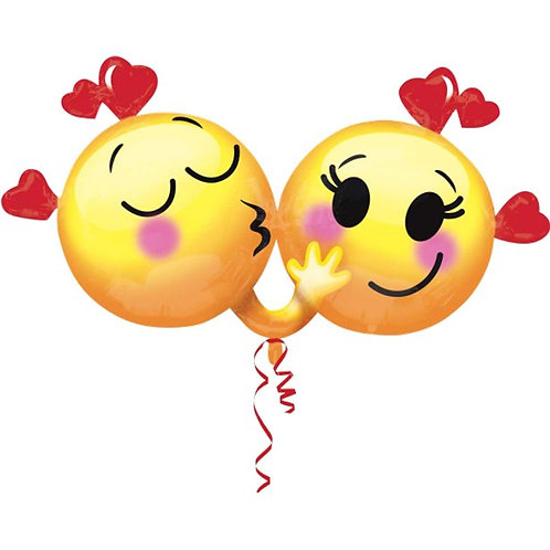 Emoticons in Love Foil Balloon