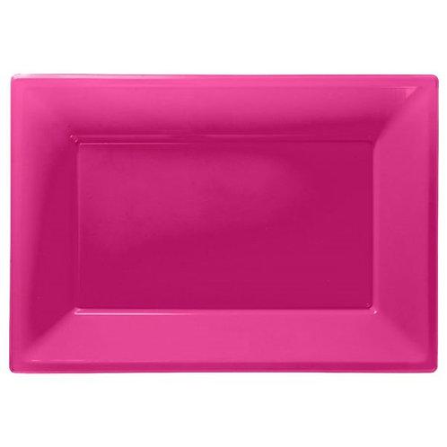 Food Serving Platter - Hot Pink