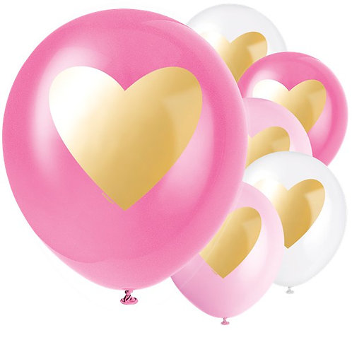 Gold Heart Balloons