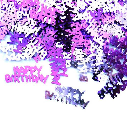 Happy Birthday Pink Table Confetti