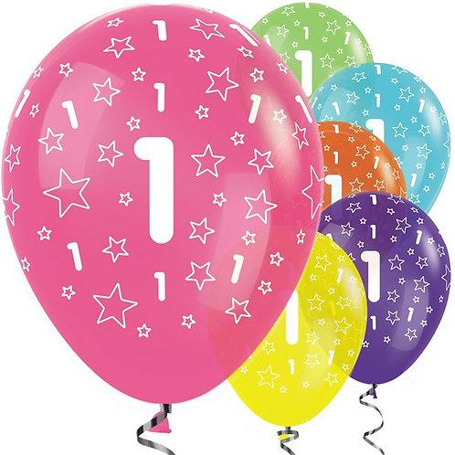 1st Birthday Tropical Mix Balloons