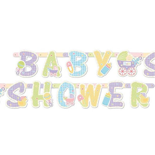 Baby Shower Jointed Letter Banner