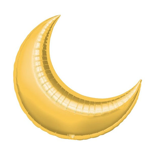 Large Gold Crescent Balloons