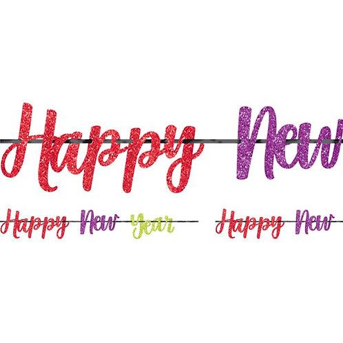 New Year Glitter Letter Banner