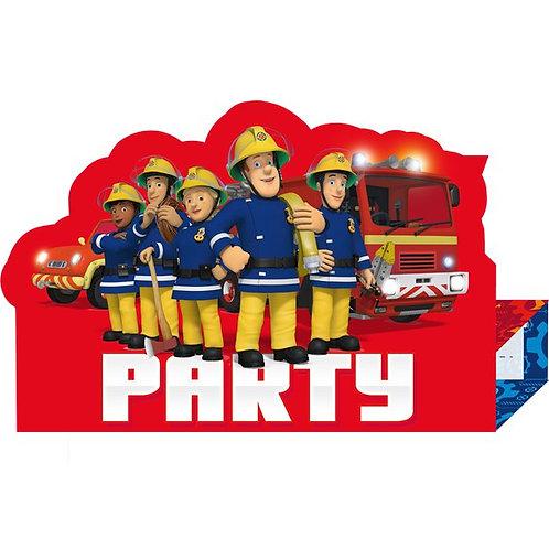 Fireman Sam Party Invites & Envelopes