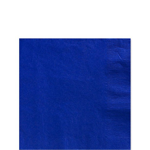 Royal Blue Paper Napkins Size 25cm