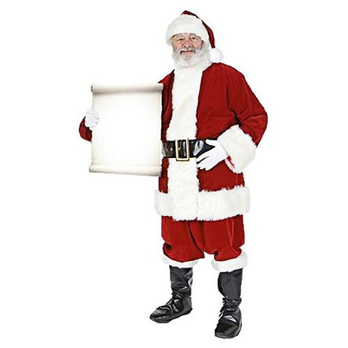 Santa with Small Message Sign Cardboard Cutout