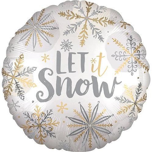 Let It Snow Satin Foil Balloon