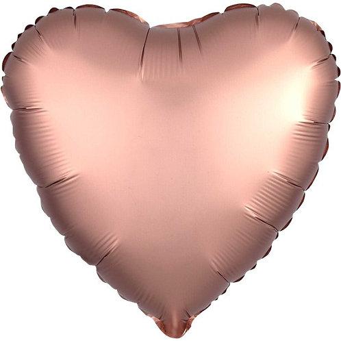 Rose Gold Satin Heart Shape Balloon